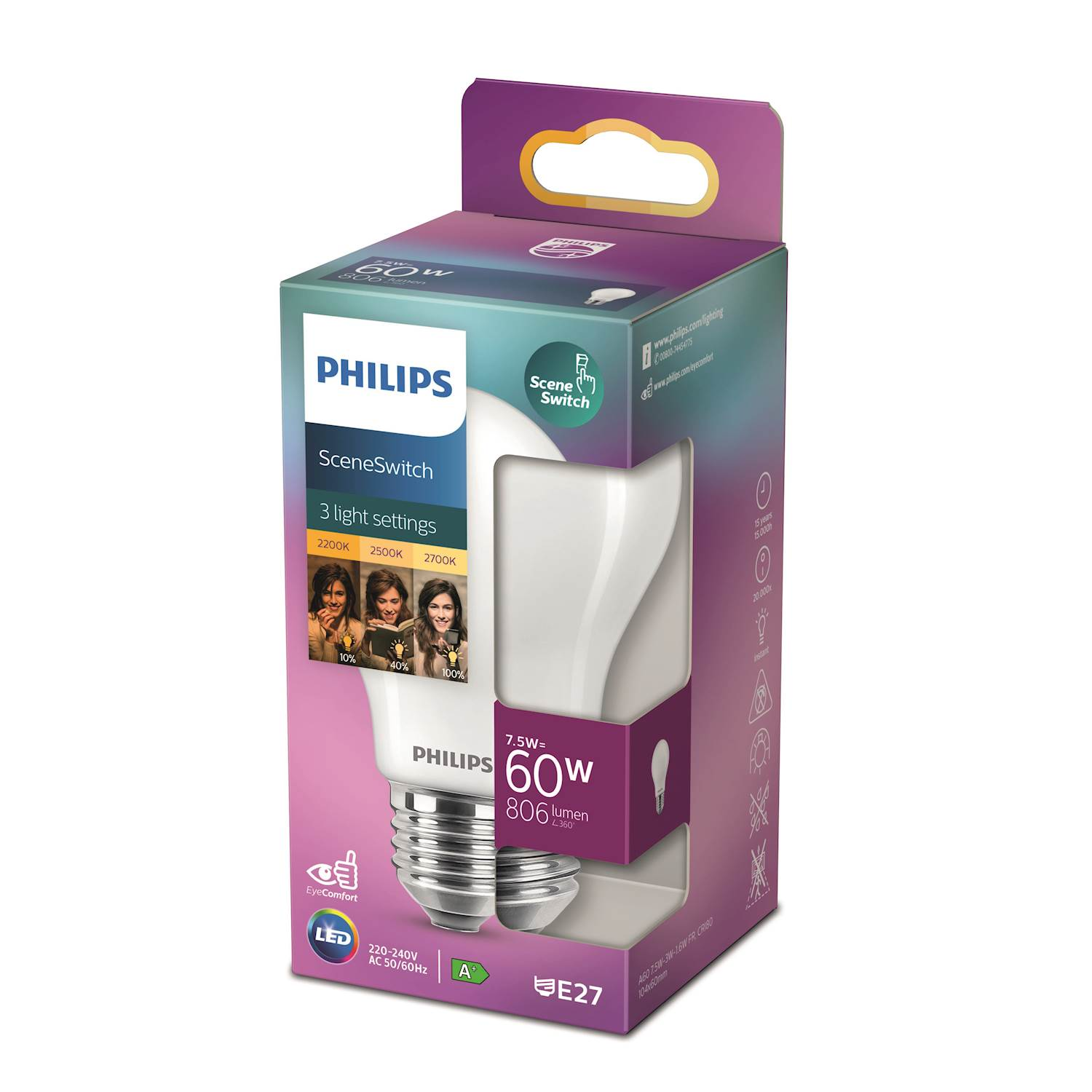 Philips LED Classic ssw 60w norm e27