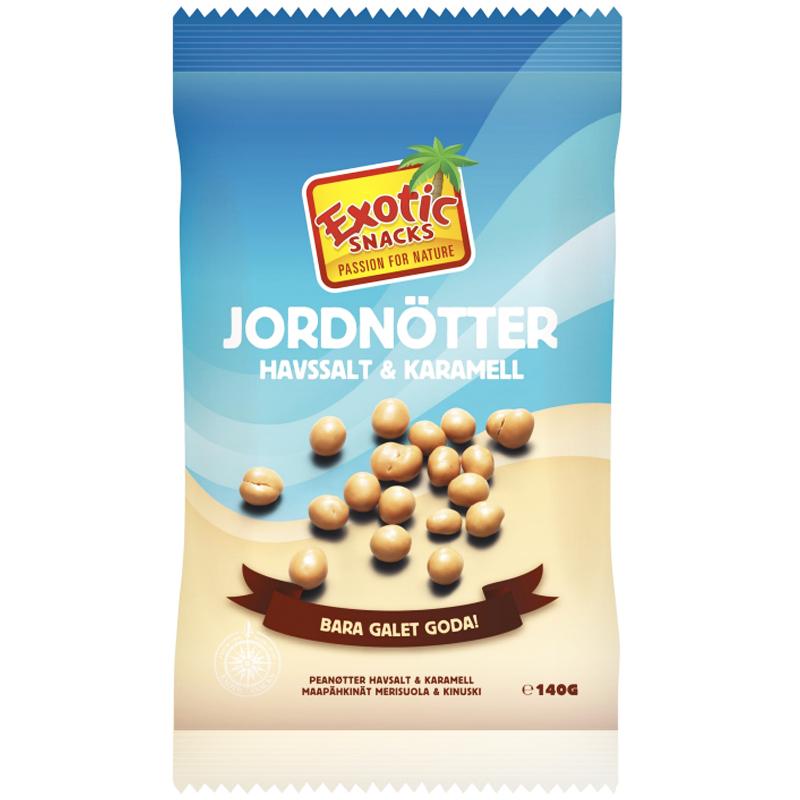 Jordnötter Havssalt & Karamell 140g - 36% rabatt