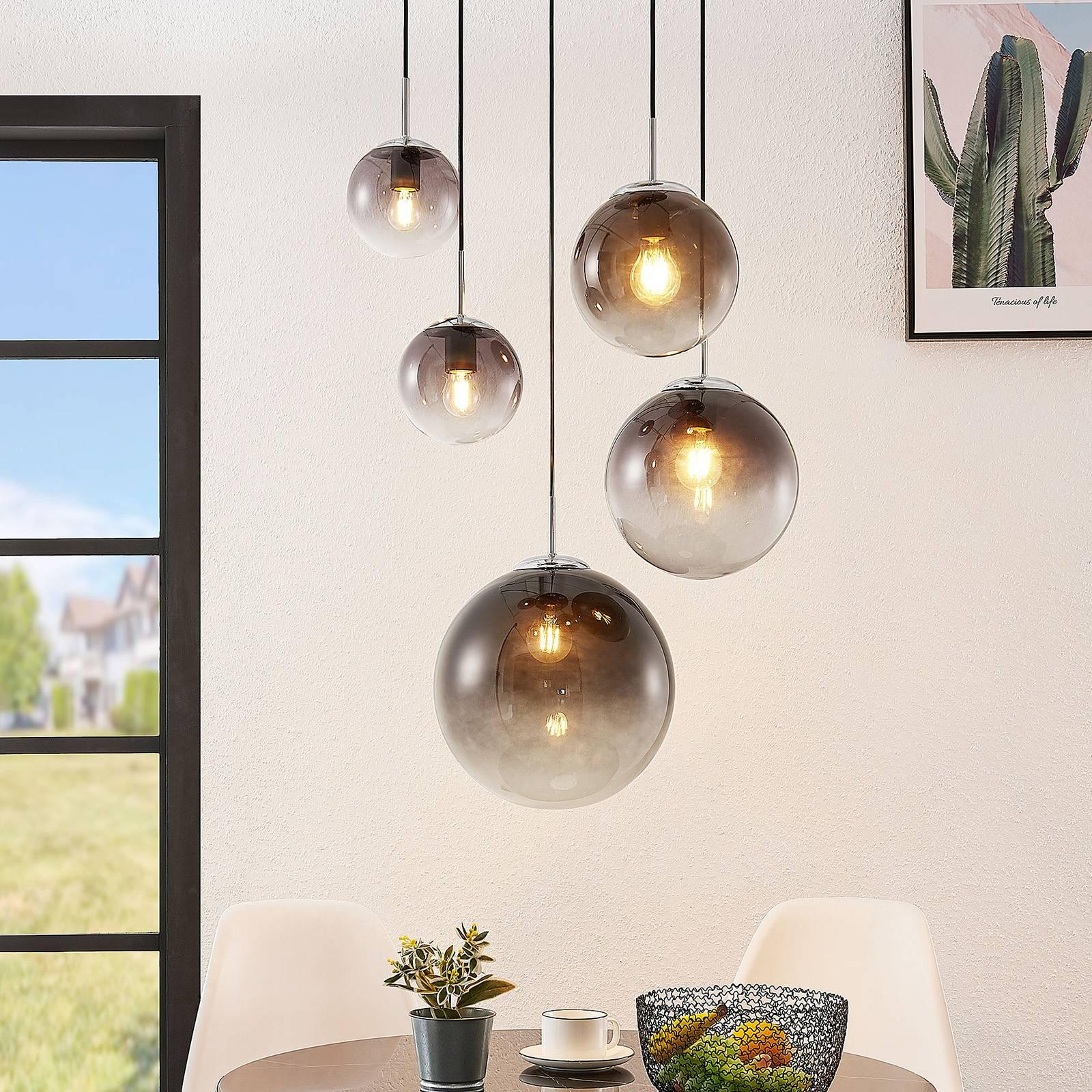 Lindby Robyn -lasiriippuvalaisin, viisilamppuinen