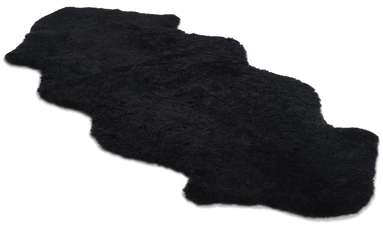 1,5 sammensydd, krøllete saueskinn - 301599 svart