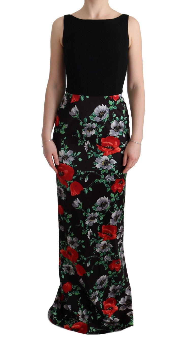 Dolce & Gabbana Women's Floral Print Stretch Sheath Dress Multicolor SIG60623 - IT40|S