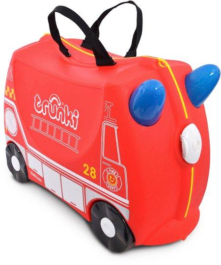 Trunki Frank The Firetruck Trillekoffert 18L, Red