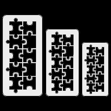 Geometrisk Multikutter Puslespill 3 stk