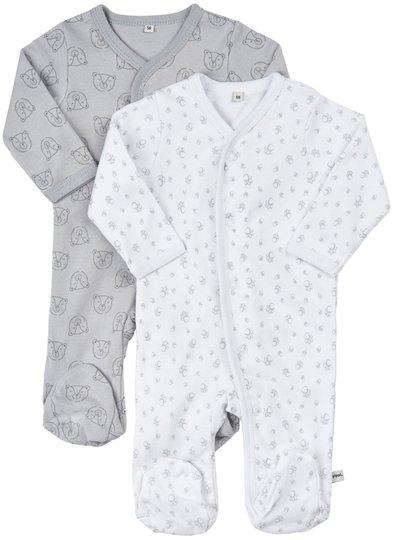 Pippi 2-Pack Pyjamas, Harbor Mist Stl 86