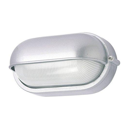 Utendørs vegglampe 400180 oval, sølv