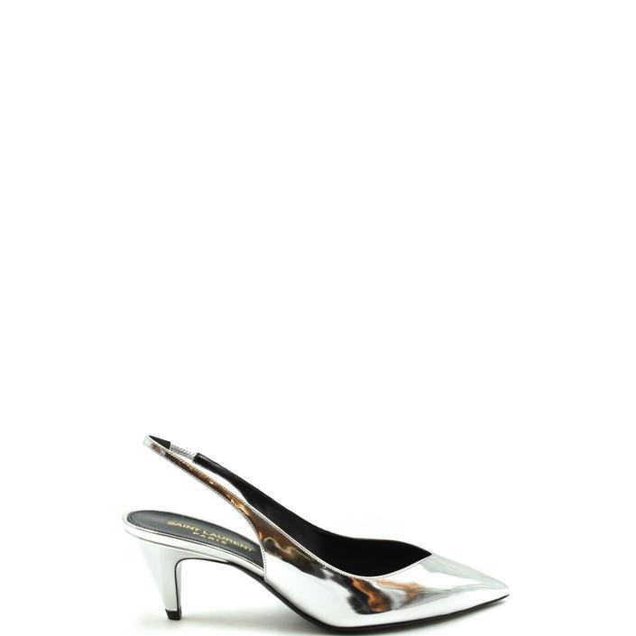 Saint Laurent Women's Sandal Silver 179481 - silver 36