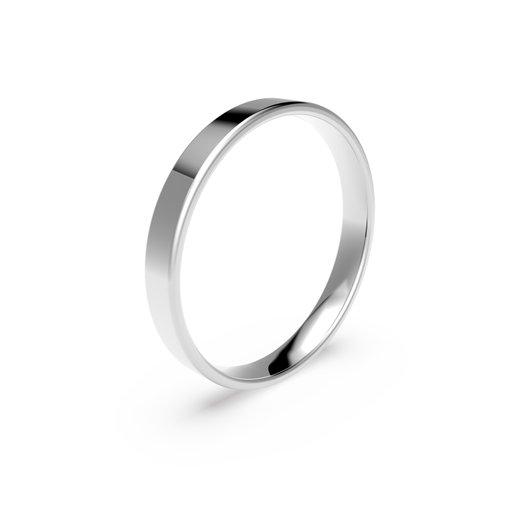 Förlovningsring i platina 3mm, 58