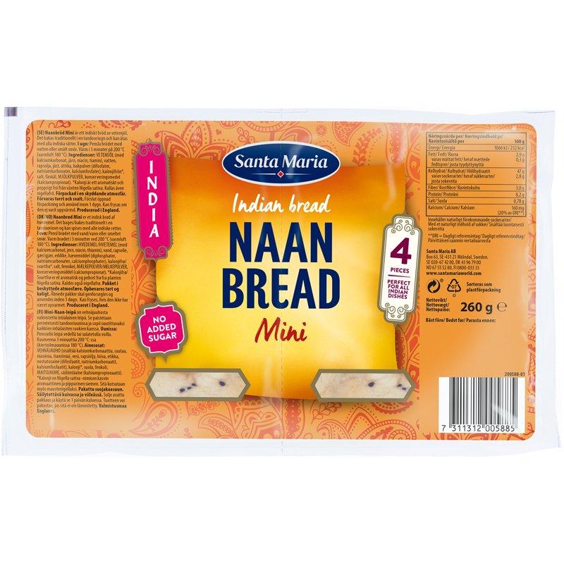 Naan-leipä Mini - 16% alennus