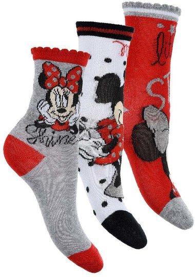 Disney Minni Mus Sokker 3-pack, 23-26
