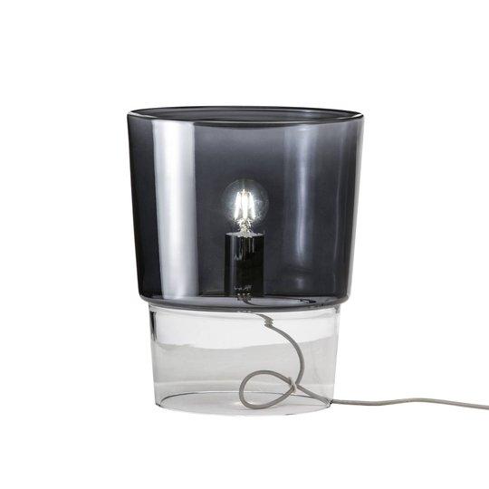 Prandina Vestale T3 bordlampe røykgrå/klar