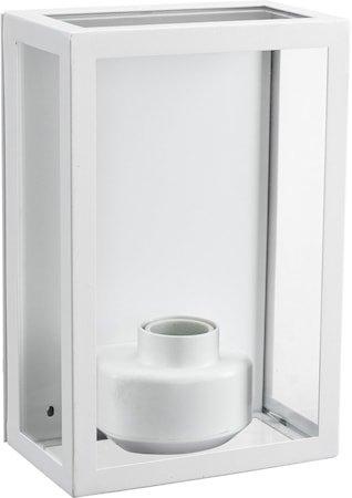 Kubba vegglampe 230 V IP44 Hvit
