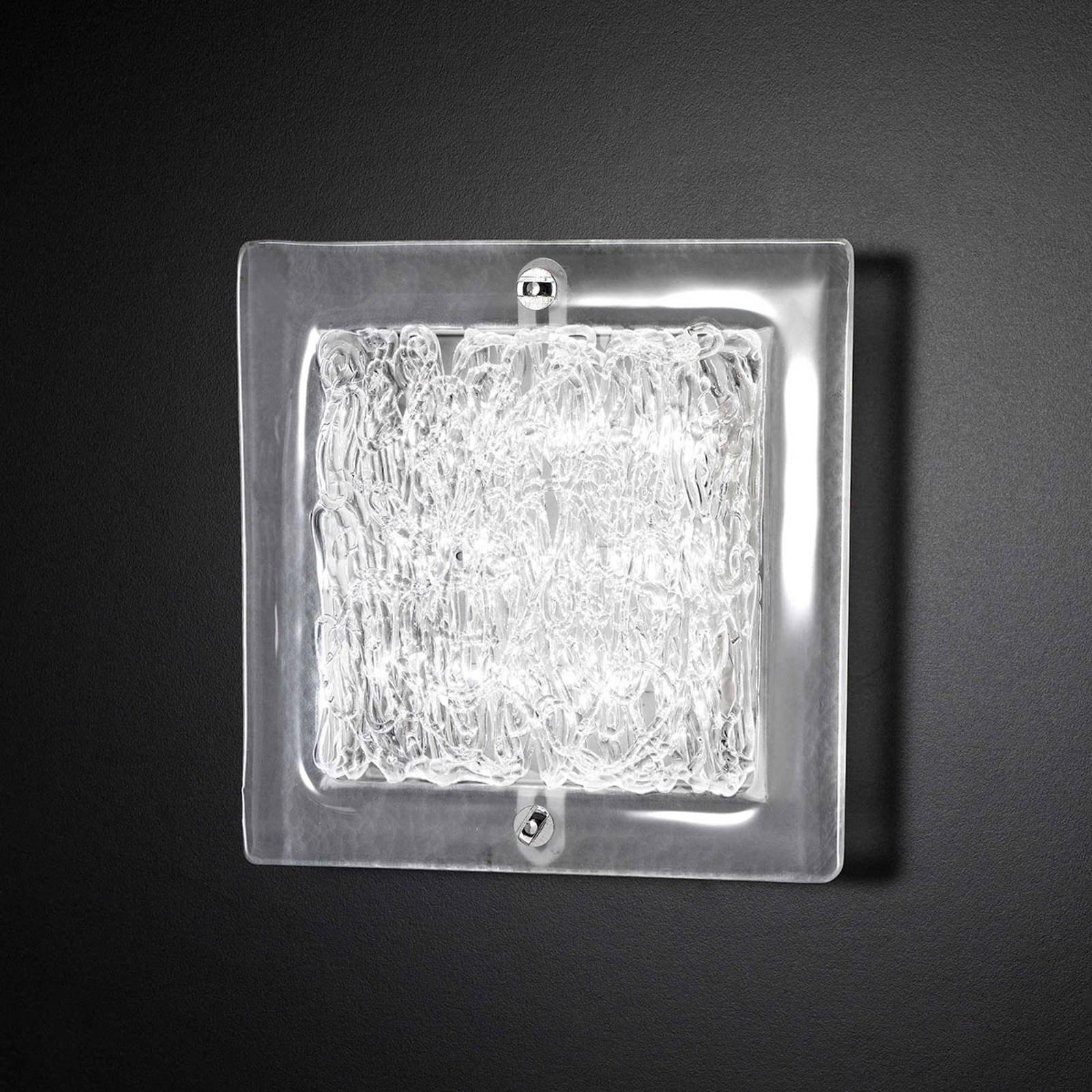 Glass-vegglampe Mary 20x20 cm