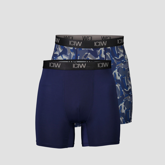 Sport Boxer 2-Pack, Navy/Grey