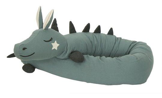 Roomate Long Dragon Crib Bumper, Sea Grey
