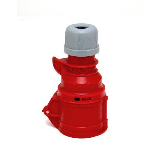 Garo Quick Jatkopistorasiat IP44 5-napainen 16A 6h, punainen