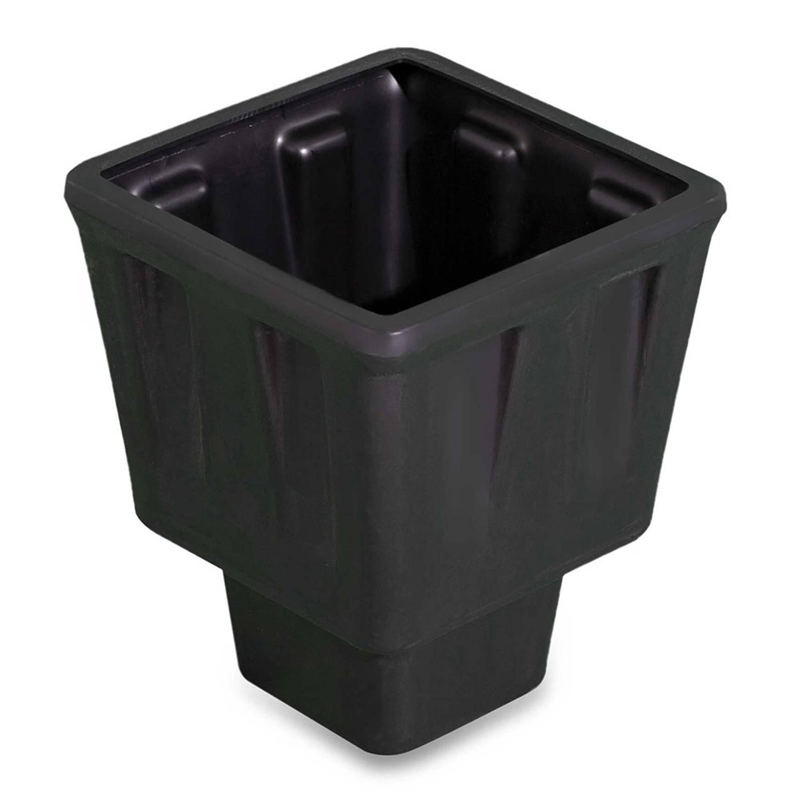 Kasviastia Trevia V -koristevalaisimeen, musta