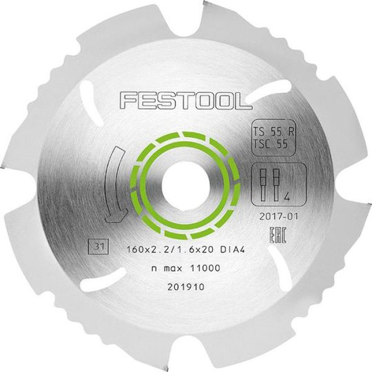 Festool DIA4 Sahanterä 160x2, 2x20mm