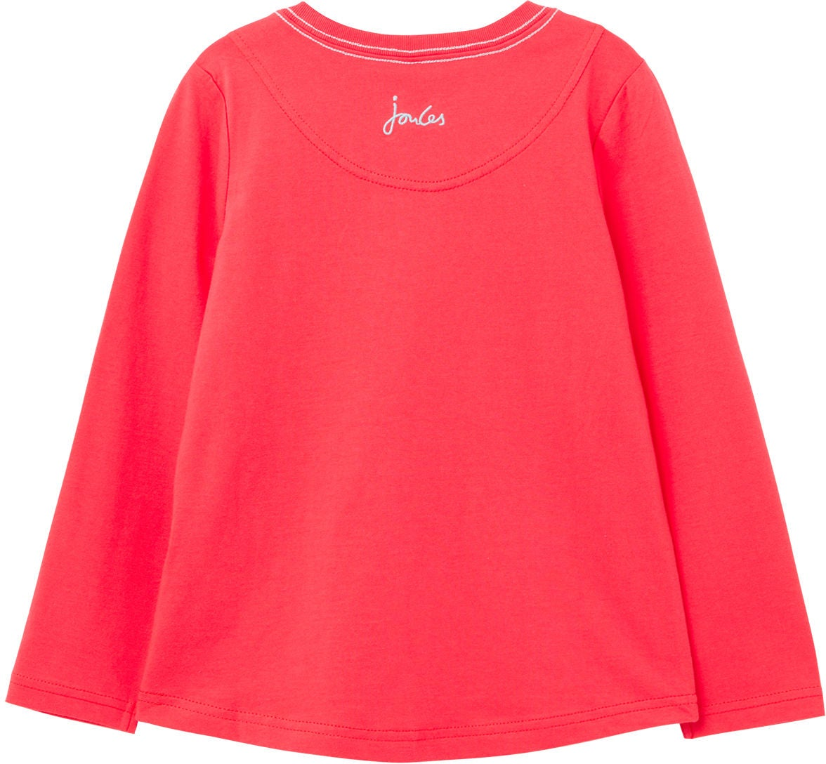 Tom Joule Ava T-shirt, Red Hearts, 3 år