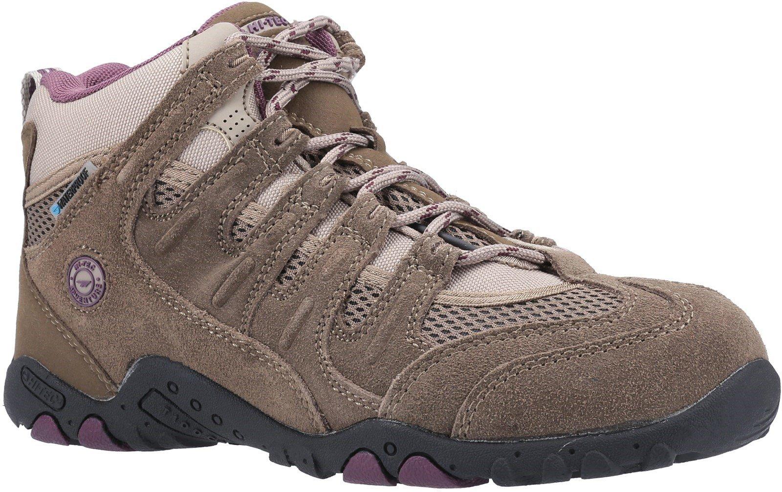 Hi-Tec Men's Quadra Classic Multi-Sport Boots Multicolor 31631 - Taupe/Plum 4