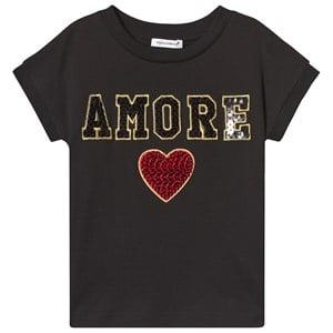 Dolce & Gabbana Amore Paljett T-Shirt Svart 3 years