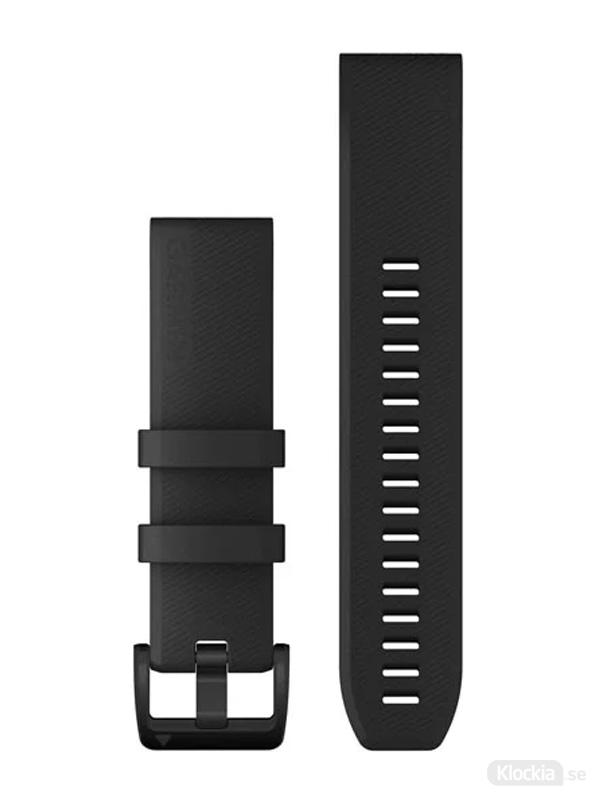 Garmin QuickFit 22mm - Klockarmband, Svart med svarta detaljer i rostfritt stål
