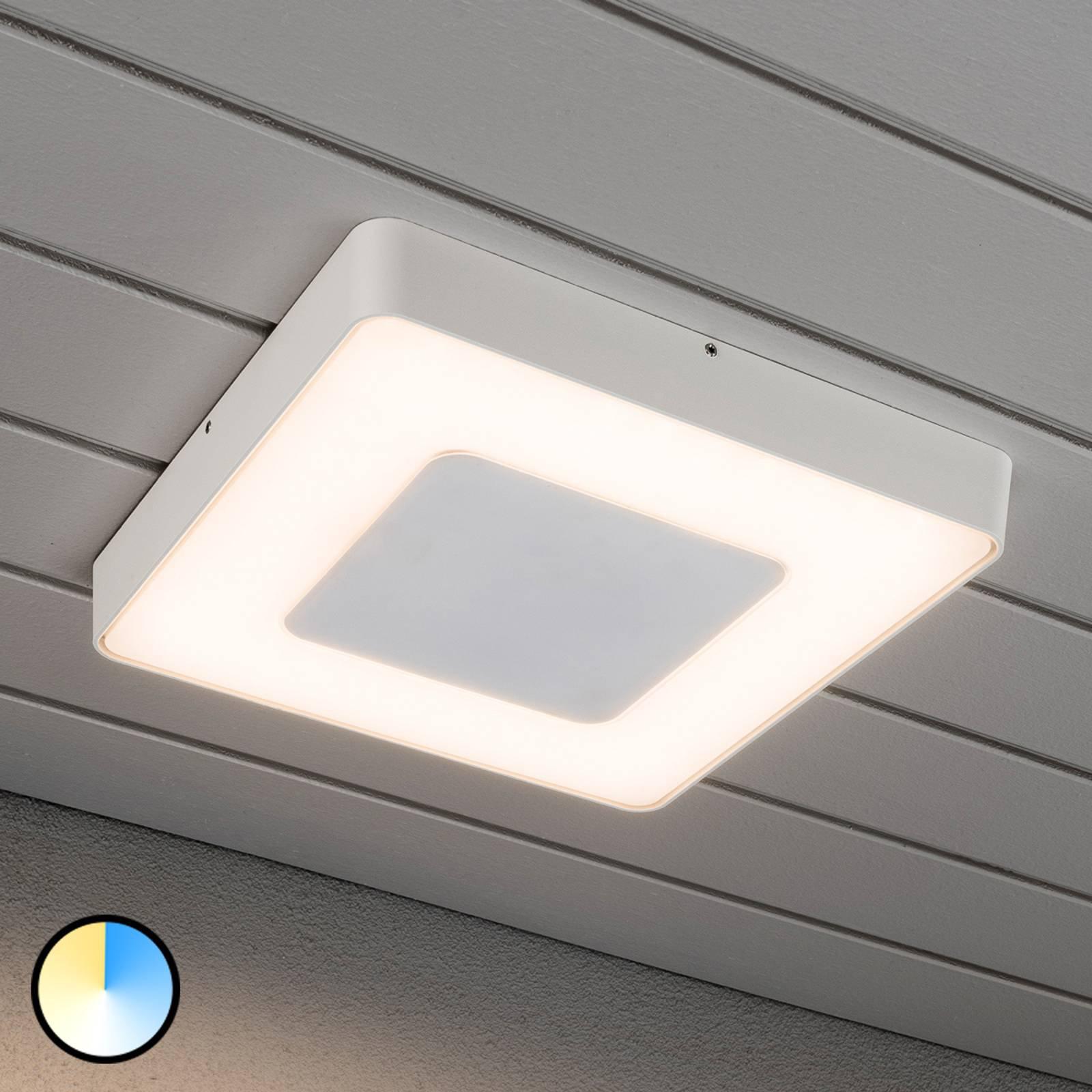 Carrara - hvit LED utendørs taklampe kvadratisk
