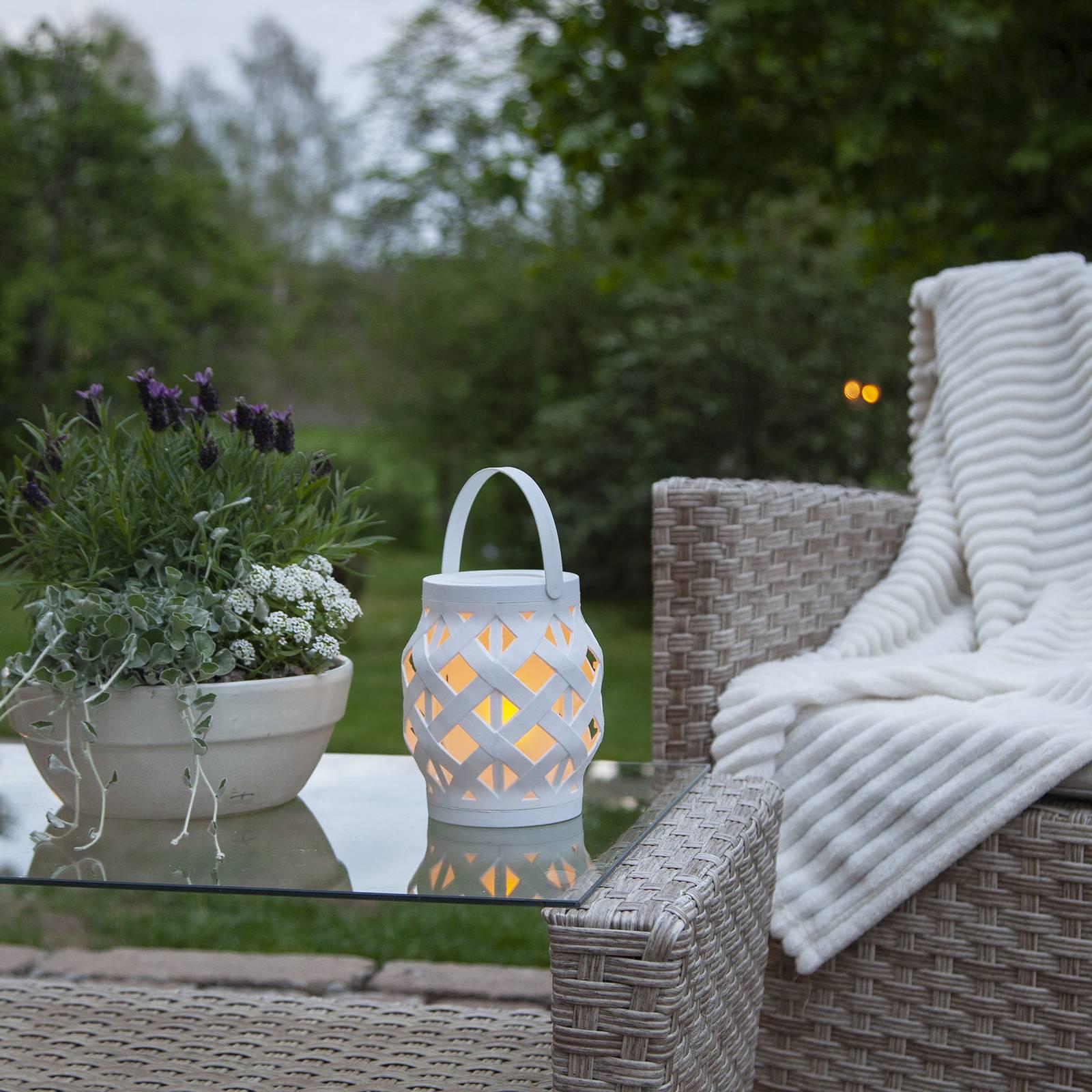Flame Lantern -LED-lyhty, valkoinen, korkeus 16 cm