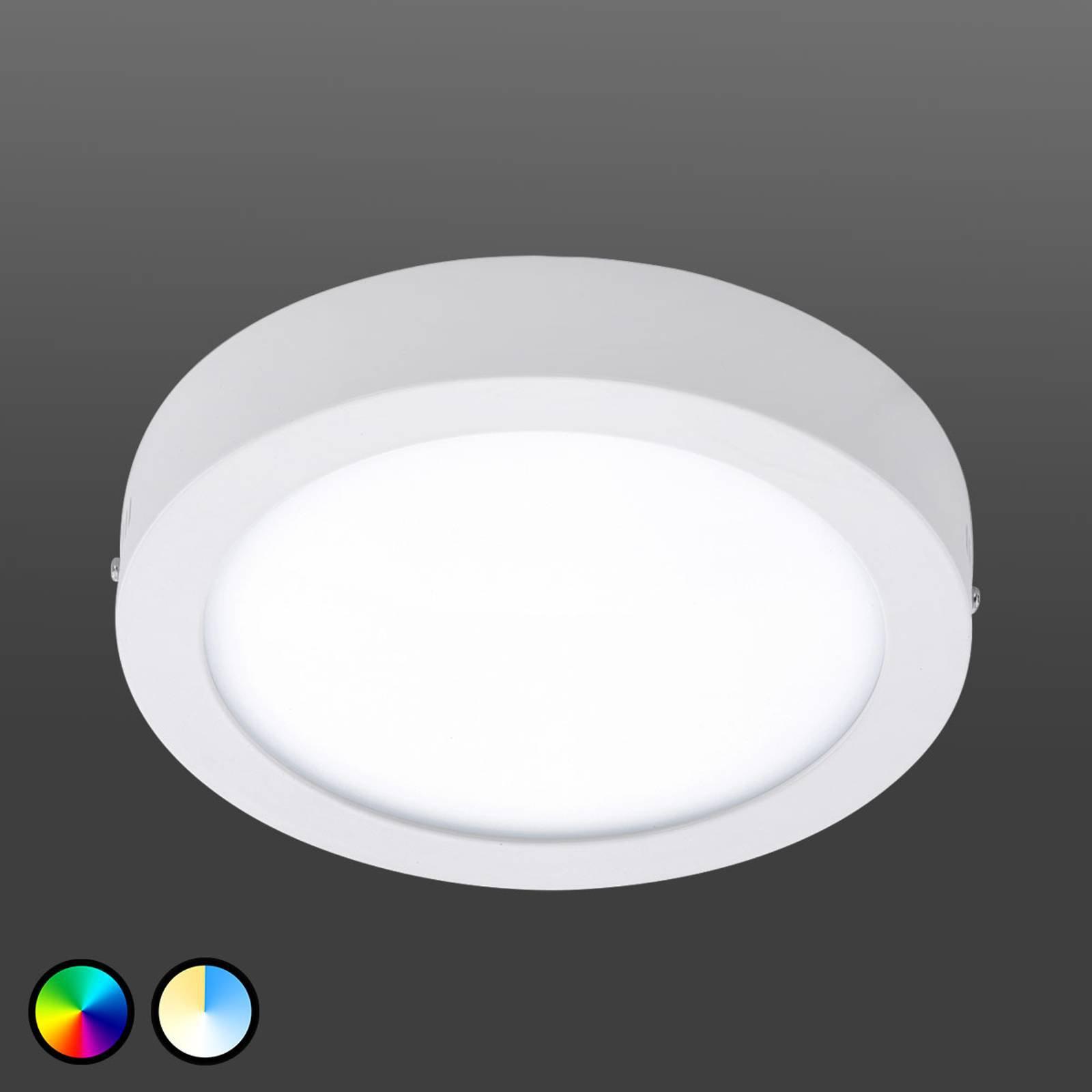 EGLO Connect Fueva-C taklampe rund 22,5 cm hvit