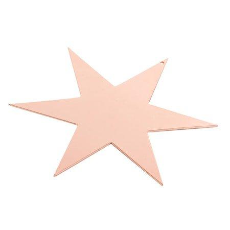 Stjerne 17 cm, kobber