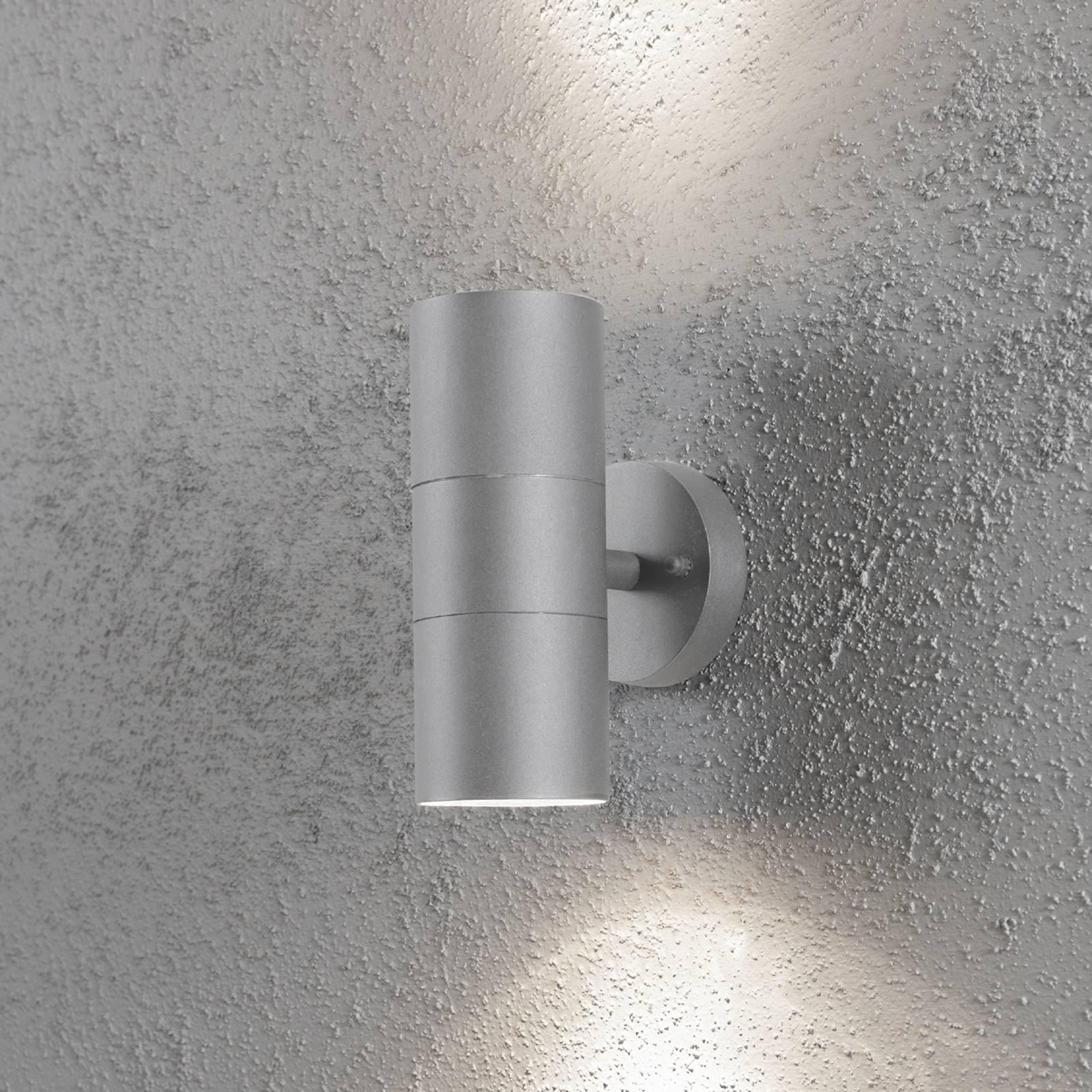 Utendørs NEW MODENA vegglampe med to lys i grå