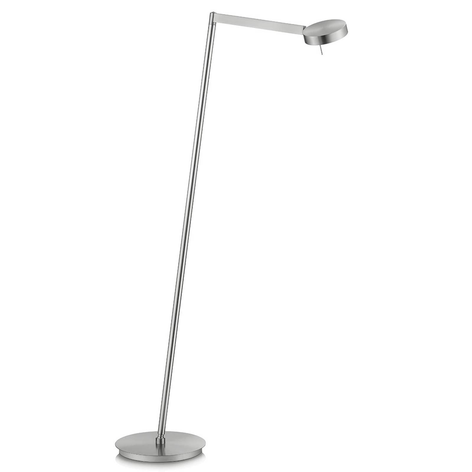 Dimbar LED-leselampe, matt nikkel