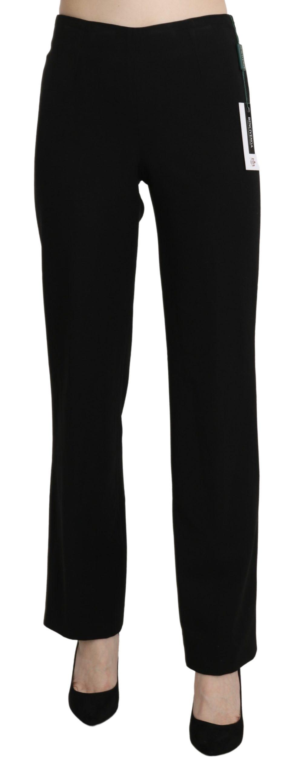 BENCIVENGA Women's High Waist Straight Formal Trouser Black PAN71325-44 - IT44|L
