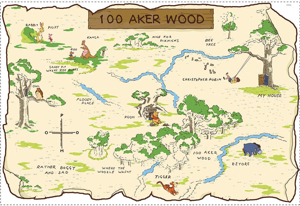 RoomMates Sisustustarrat Wood Map