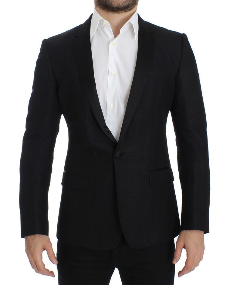 Dolce & Gabbana Men's wool MARTINI slim Blazer Black SIG12291 - IT52 | XL