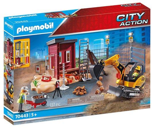 Playmobil 70443 Minigravemaskin med bygningsdel