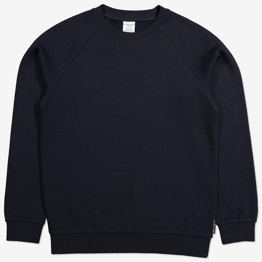 Ensfarget sweatshirt mørkblå