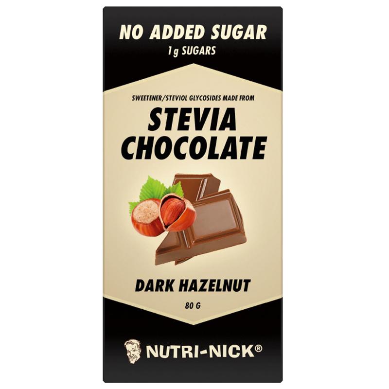 Mörk Choklad Hasselnöt Stevia 80g - 50% rabatt