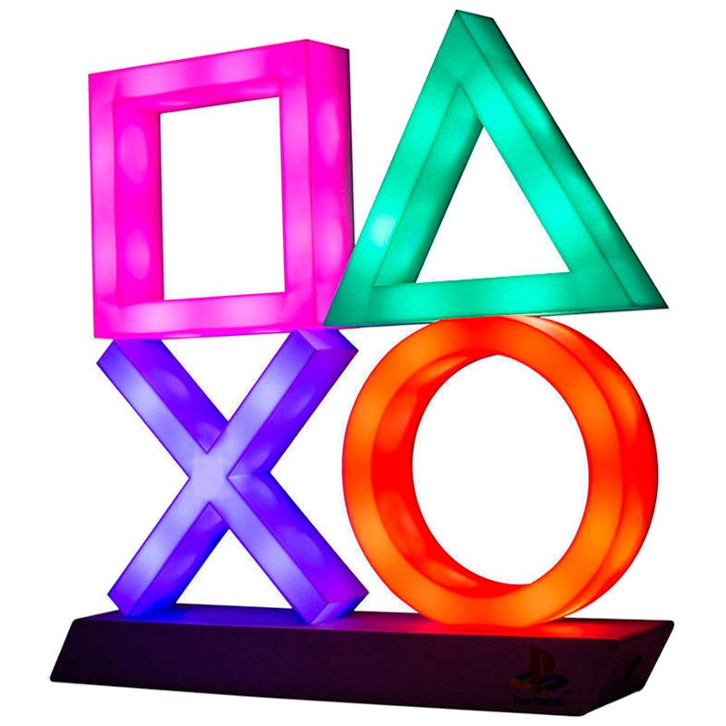 Playstation Gaming Lamp Icons XL Multicolor