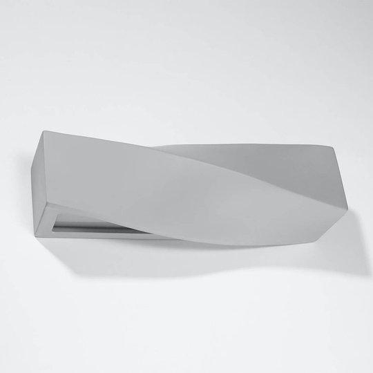 Turn vegglampe av keramikk, up/down, grå