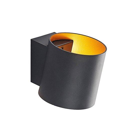 Arcchio Vilja vegglampe, sylinder, svart, gull