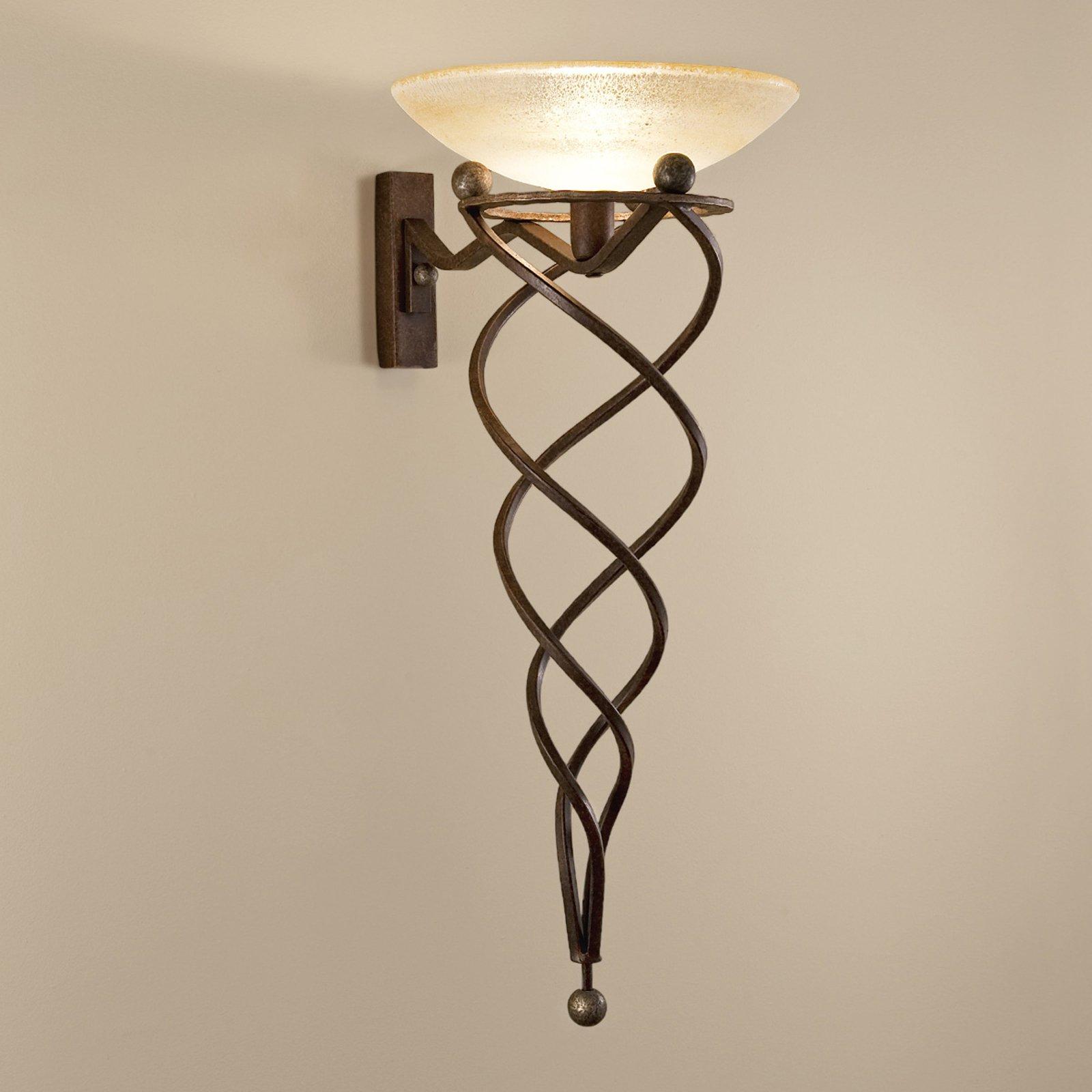 Vegglampe Antinea med Muranoglass