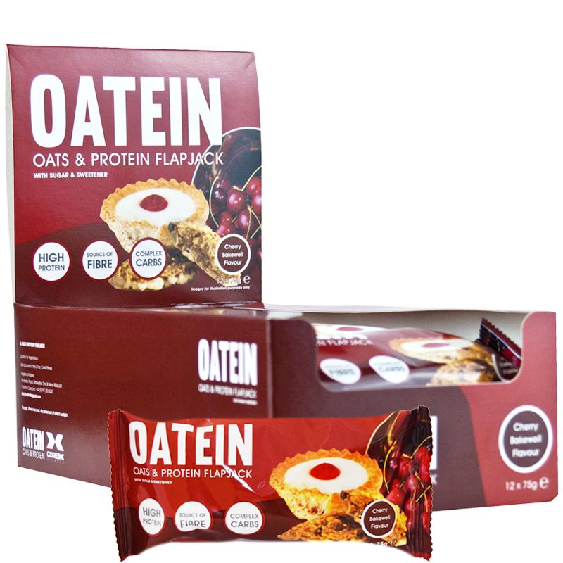 """Hel Låda Havre- & Proteinbars """"Cherry Bakewell"""" - 64% rabatt"""