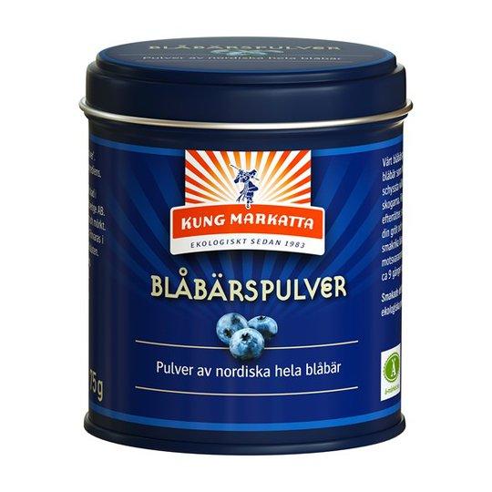 Kung Markatta Blåbärspulver, 75 g