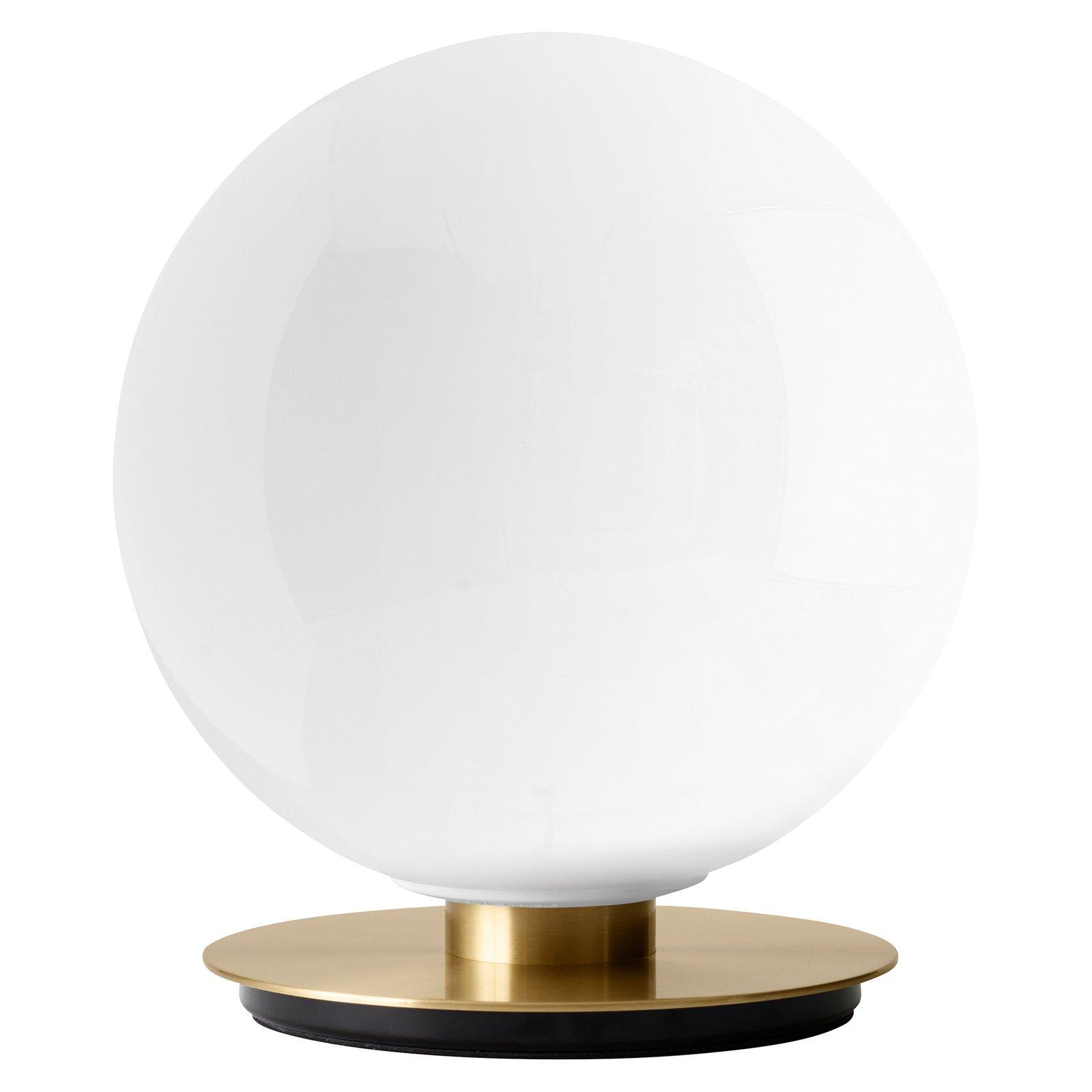 Menu TR Bulb bordlampe 22 cm messing/opal blank