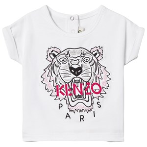 Kenzo Tiger Embroidered T-shirt Vit 6 months