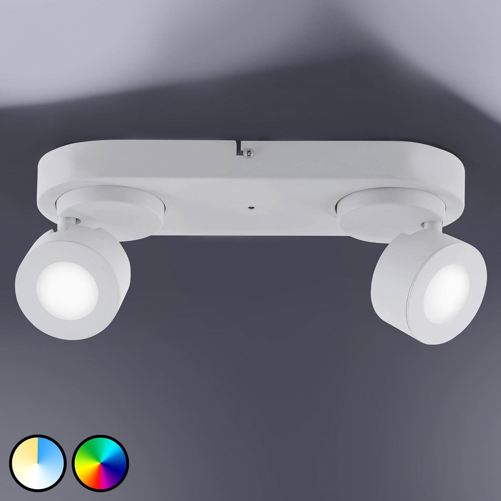 Trio WiZ Sancho -LED-kohdevalaisin kaksilamppuinen