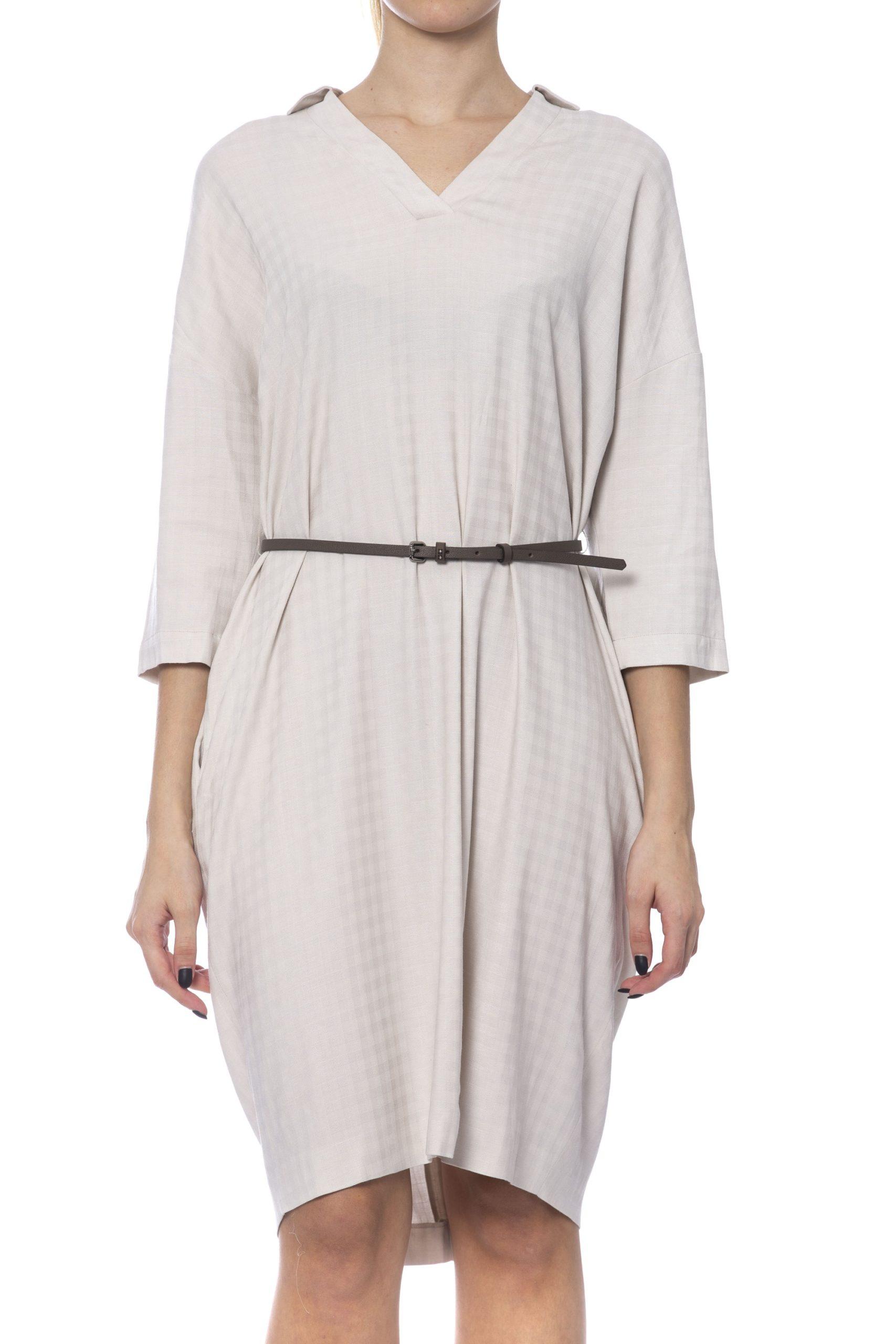 Peserico Women's Dress Beige PE992070 - IT42 | S