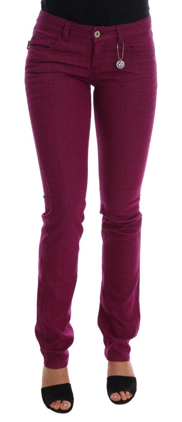 Costume National Women's Cotton Stretch Slim Denim Jeans Purple SIG30127 - W26