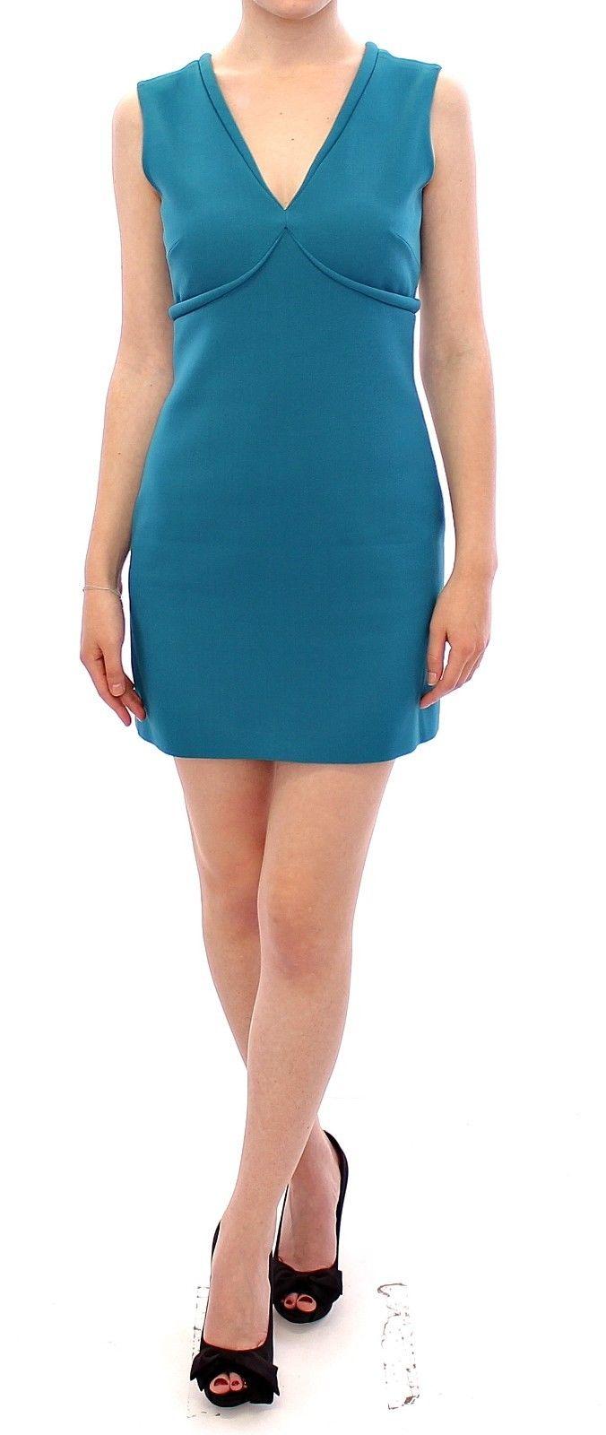 Versace Jeans Women's Mini Cocktail Dress Blue GSS10783 - IT40