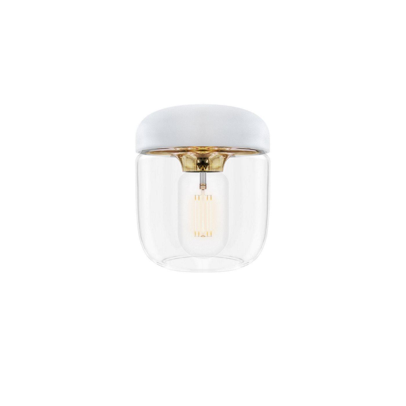 Acorn lampa white brass, Vita